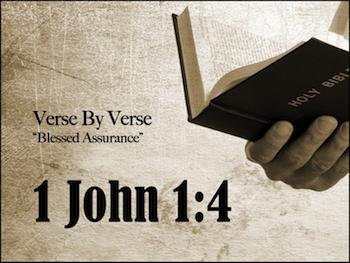 Complete Joy: 1 John 1:4