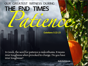 Holy Spirit: Patience