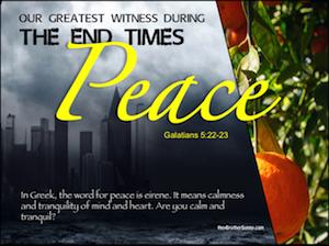 Holy Spirt: Peace