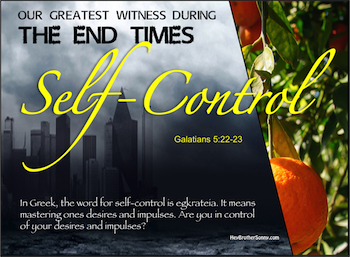 Holy Spirit: Self-Control
