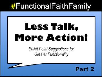 Less Talk, More Action - Part 2